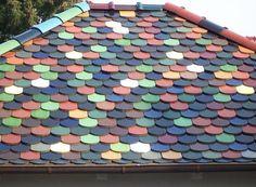 Buntes Biberschwanz-Dach- Gestaltung und Durchführung durch die Rosenfeld & Krehl Dachbau Limited in Stahnsdorf OT Güterfelde (14532) | Dachdecker.com