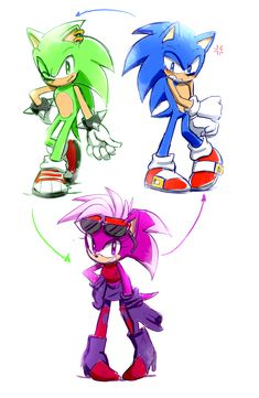 Sonic, Sonia and manic Hedgehog Art, Sonic The Hedgehog, Silver The Hedgehog, Shadow The Hedgehog, Game Character, Character Concept, Character Design, Sonic Underground, Sonic Fan Characters