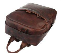 Kožený batoh Bonola 4140003451-702 Leather Backpack, Backpacks, Bags, Fashion, Handbags, Moda, Leather Book Bag, Fashion Styles, Leather Backpacks