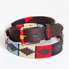 Resultado de imagen para cinturon de cuero bordado argentino