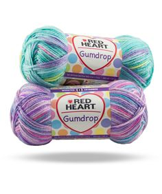 Gumdrop - With bright, trendy colors and a silky soft hand, this 100% premium acrylic yarn is perfect for kids, toddlers and adults too!