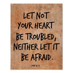 Let not your heart be troubled bible verse posters #bibleverses #Christianquotes