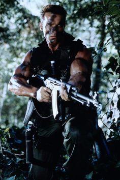 Arnold Schwarzenegger Arnold Schwarzenegger Movies, Arnold Schwarzenegger Bodybuilding, Arnold Movies, Predator Movie, Dutch Predator, 80s Movies, Action Movies, Great Movies, Os Goonies