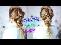 CUTE HAIRSTYLE EASY MOHAWK STYLE DOUBLE BRAID PONYTAIL | Awesome Hairstyles
