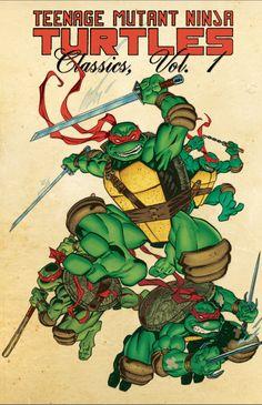 TMNT Classics Vol 1 cover by Michael Dooney