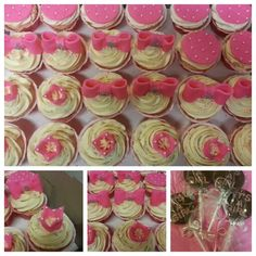 Minnie, pink, poah, bling inspired cupcakes