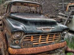 Take Care Of Your Car And Make It Last. Photo by Rob Ellis' When handling auto repairs, you may feel overwhelmed and lost. If this is your case, you need to learn more about auto repairs. Abandoned Cars, Abandoned Vehicles, Abandoned Castles, Abandoned Mansions, Abandoned Places, Danny Zuko, Old Pickup, Pickup Trucks, Gm Trucks