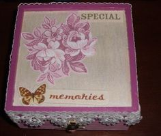 pink/with lace special memories box by SMILESbyMonaLisa on Etsy