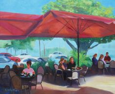 """Lunch on Beach Drive"", 20"" x 24"" oil on gallery wrapped canvas."