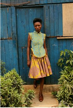 Maléombho's designs are Inspired by the Akan tribes of Ghana and the Baoule tribe in Côte d'Ivoire, this award-winner designer has made it her mission to continue to honor the hand weaving crafts of West Africa as well as the colorful and complex wax prints that have become emblematic of African chic. http://www.lozamaleombho.com/ #AfricanFashion