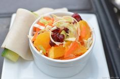 Carrot cranberry salad. And website with lots of healthy food recipes and ideas aimed at kids' meals.