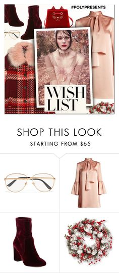 """""""#PolyPresents: Wish List"""" by vampirella24 ❤ liked on Polyvore featuring Gucci, Fendi, 424 Fifth and Charlotte Olympia"""
