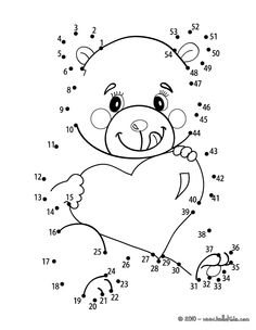 Beloved Teddy Bear printable connect the dots game