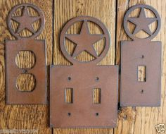 New Western Texas Star Outlet Switch Cover Rustic Metal Decorator Home Decor Ebay
