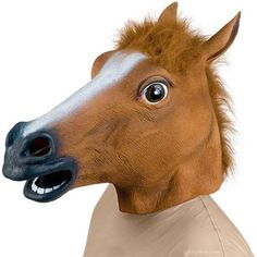 Cosplay Halloween Horse Head Mask Latex Animal ZOO Party Costume Prop Toys Novel -- Awesome products selected by Anna Churchill