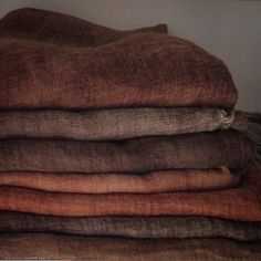 The highest quality Linen - Cotton - Wool textiles by LinenWorld Wabi Sabi, Textiles, Brown Aesthetic, Colour Board, Earth Tones, Earth Colours, Linen Fabric, Home Deco, Color Inspiration