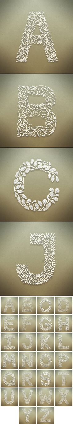 Botanical Alphabet - Seth Mach