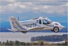 The Terrafugia Transition, created by Carl Dietrich, can shift from driving to flying within 30 seconds. In that time, the Transition's wings extend out and lock in, and the vehicle begins to lift off. The Transition needs 1,700 feet to be able to make it into the air.