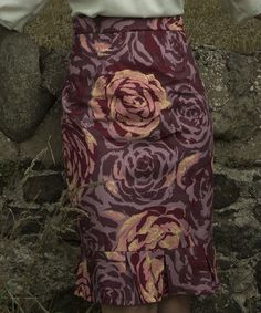 Another great find on #zulily! Purple Floral Fife Pencil Skirt by Shabby Apple #zulilyfinds