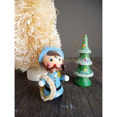 Wooden Police Bobby Ornament  Vintage Hand by JustSmashingDarling, $12.00