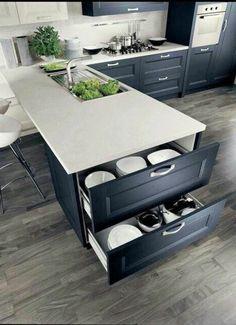 Kitchen Design In A Dark Color