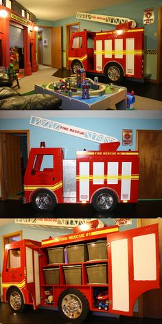 Fire Station-Themed Playroom | Shared by LION