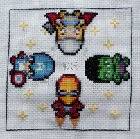 Avengers embroidery by didi-gemini
