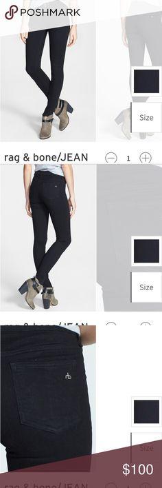 "Rag and bone "" plush twill legging"" Black Jean/legging. Super soft! Minimal wear rag & bone Pants Skinny"