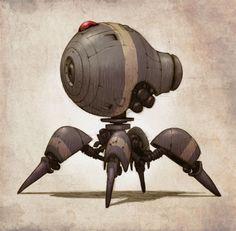 concept robots: Concept robots by Jake Parker