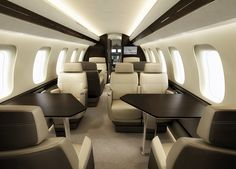 The modular Global 7000 cabin can be configured to suit the needs of any customer. Bombardier spared no effort to design an interior living and working space that will cater to the most discerning buyer.