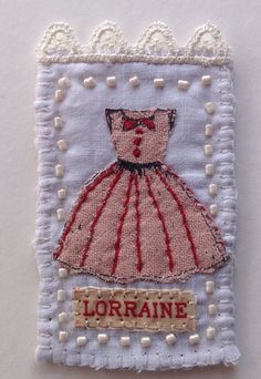 Art by Marilyn Stephens. Make umbrellas, trailers, dresses, etc out of fabric n applique onto another piece of fabric.