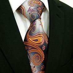 toevallige zijde bloemenprint stropdas – EUR € 8.08