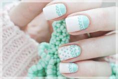 Odette Swan Blog | Beauty is Everywhere: 96. Mint Elegance - czyli miętowy manicure.