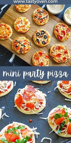 Kid Party Foods, Finger Foods For Parties, Finger Foods For Kids, Healthy Finger Foods, Pizza Appetizers, Appetizers For Kids, Finger Food Appetizers, Easy Appetizer Recipes, Yummy Appetizers