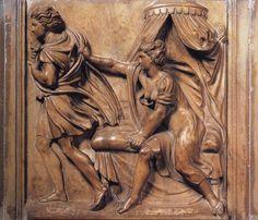 """De l'Art en Branches  """"Joseph et la femme de Potiphar""""  Bas relief de Properzia de Rossi rare sculpteur femme de la renaissance italienne (1490-1530)"""