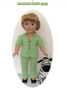 """Ravelry: Safari Suit for 18"""" Dolls pattern by UNA HENDRY"""