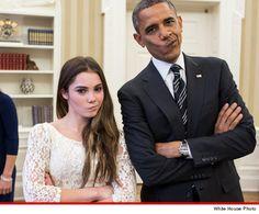 President Obama & McKayla Maroney -- NOT IMPRESSED
