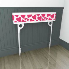 a heart-felt console table which will leave you floating on air