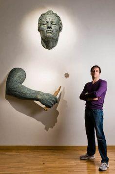 The Italian sculptor Matteo Pugliese Art Sculpture, Bronze Sculpture, Wall Sculptures, Contemporary Sculpture, Contemporary Art, Art For Art Sake, Portraits, Graphic, Installation Art