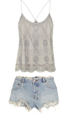 Available @ http://DollarTshirt.com YCute summer outfit vintage beading in an everyday outfit? yes please.