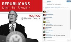 Politico create images specifically for Instagram that were very clear and designed for mobile. /mk