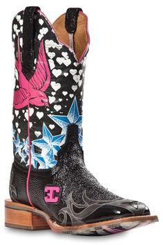 Womens Cinch Edge Stella Square Toe Cowboy Boot