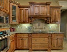 Lovely Glaze On Oak Cabinets