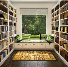 From Pinterest, Books and Shelves That Hold Them.