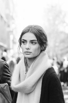 amy-ambrosio:  Taylor Marie Hill after Dolce & Gabbana F/W 2015, MFW by Matteo Bianchessi.