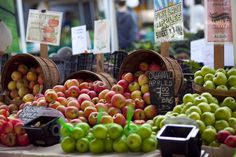 One of the best ways to eat healthy and save money is to shop at local farmers' markets. This board walks you through how to find them and offers tips for making the best choices.