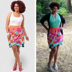 Eloquii Wrap Floral Skirt, sizes 14W-22W, on Ijeoma O. viaTumblr
