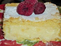 Cremsnit cu aluat Super!!!! Vanilla Cake, Cheesecake, Food And Drink, Sweets, Homemade, Pastries, Desserts, Knits, Cakes