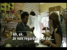 Very useful clothes shopping dialogue in French.  in 3 steps - listen, listen the repeat, repeat dialogue independently