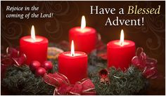 Rejoice in the coming of the Lord! Have a Blessed Advent! Christmas Advent Wreath, Christmas Flowers, Christmas Candles, Christmas Ecards, Christmas Greetings, Merry Christmas, Holiday Day, Christmas Decorations For The Home, Handmade Candles